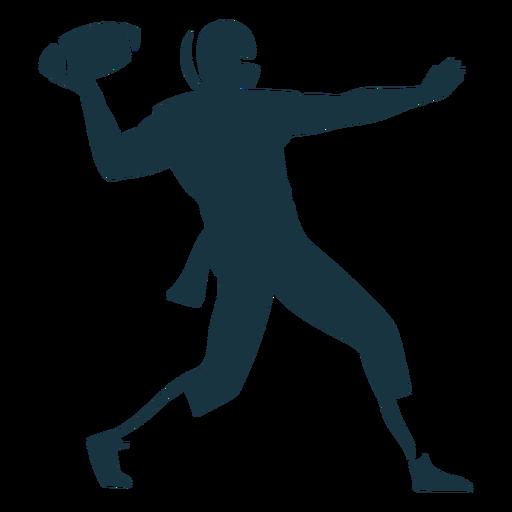 Jugador pelota traje casco fútbol silueta Transparent PNG