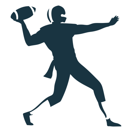 Player ball outfit helmet football silhouette Transparent PNG