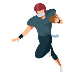 Jogador de futebol capacete bola roupa plana