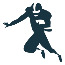 Player helmet ball outfit football silhouette