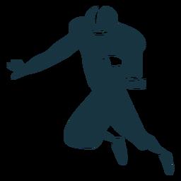 Silhueta de futebol jogador capacete bola roupa