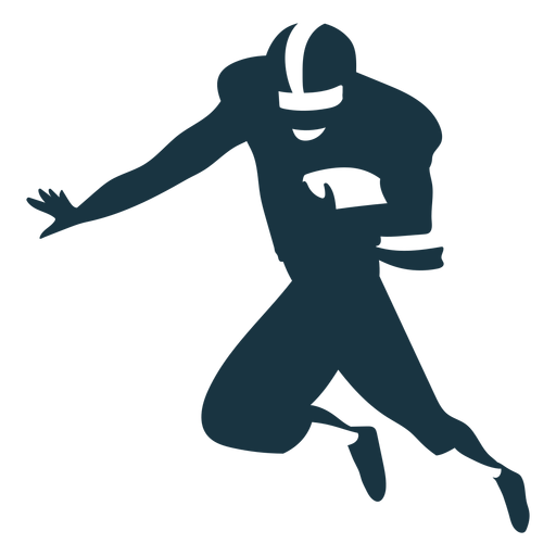 Jugador casco pelota atuendo futbol silueta Transparent PNG