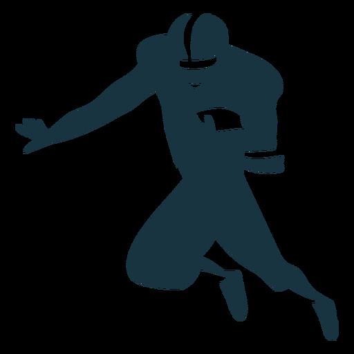 Silhueta de futebol jogador capacete bola roupa Transparent PNG