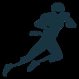 Jugador casco pelota atuendo futbol silueta
