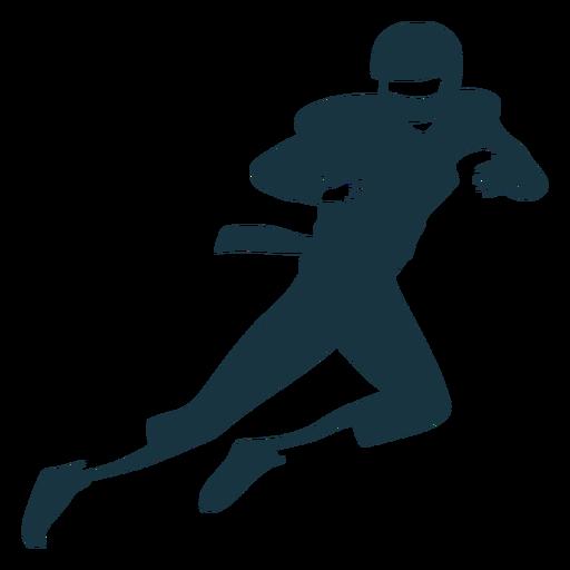 Jugador casco pelota equipo corriendo fútbol silueta Transparent PNG