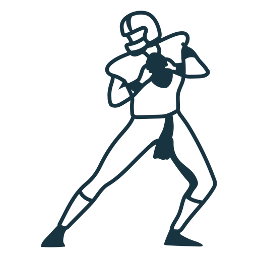 Player helmet outfit football ball stroke Transparent PNG