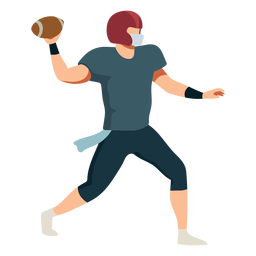 Player outfit ball helmet football flat
