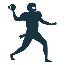 Player outfit ball helmet football silhouette