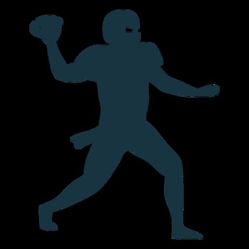 Jugador equipo pelota casco futbol silueta Transparent PNG