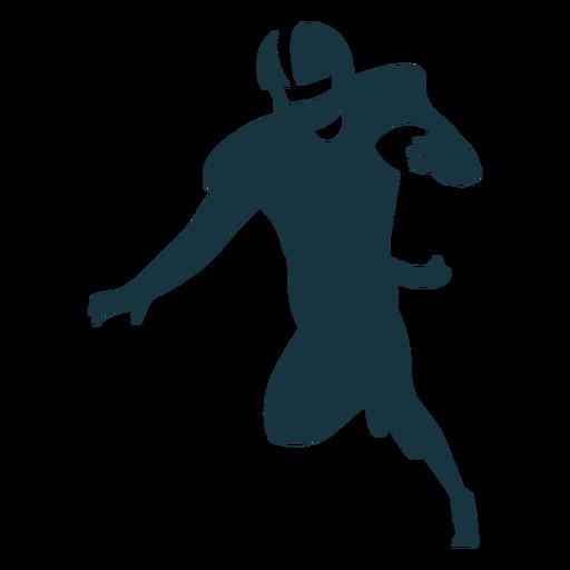 Jugador corriendo pelota traje casco futbol silueta Transparent PNG