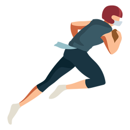 Player running football helmet ball outfit flat