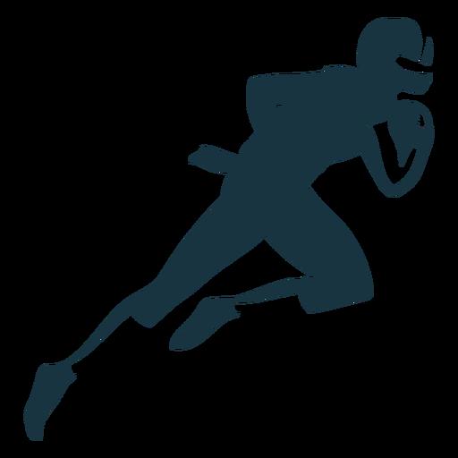 Jugador corriendo casco pelota atuendo futbol silueta Transparent PNG