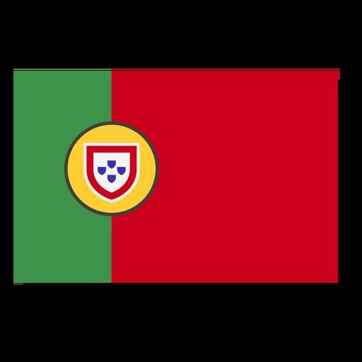 Portugal flag language icon Transparent PNG