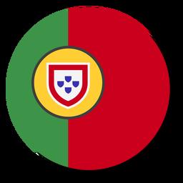 Círculo de icono de idioma de bandera de Portugal
