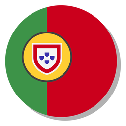 Portugal flag language icon circle