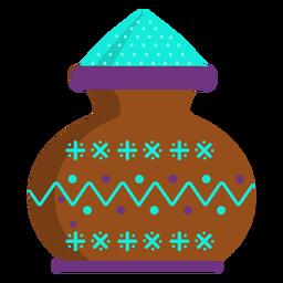 Jarrón de jarrón en polvo patrón de olla plana