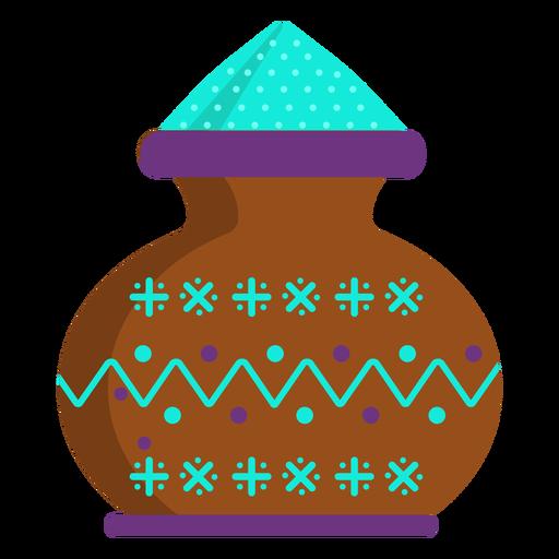 Vaso de jarro de pó de padrão de pote liso Transparent PNG