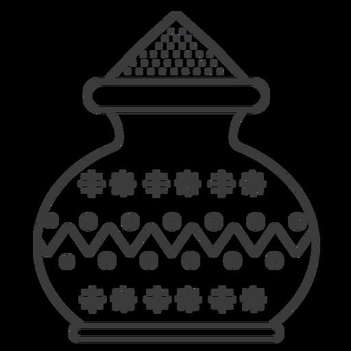 Pot pattern powder jug vase stroke Transparent PNG