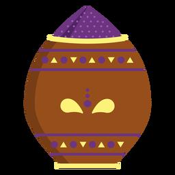 Jarra de vaso em pó padrão de pote plana