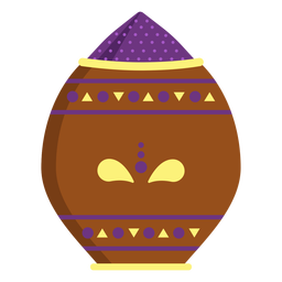 Pot pattern powder vase jug flat