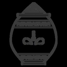 Padrão de panela jarra de vaso em pó