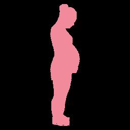 Silhueta de barriga de mulher gravidez