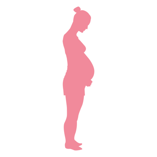 Pregnancy woman belly silhouette Transparent PNG