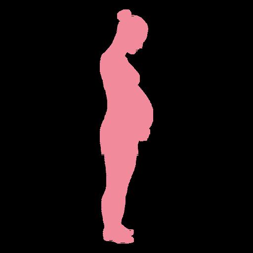 Silhueta de barriga de mulher gravidez Transparent PNG