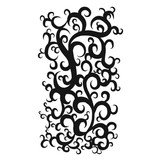 Quadruple whole note rest swirl Transparent PNG