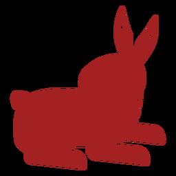 Conejo oreja bozal conejito chino astrología silueta
