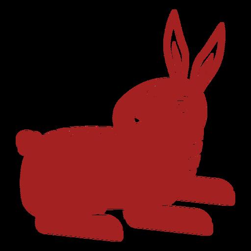 Oreja de conejo bozal conejito astrología china silueta