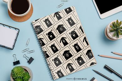 Black Dogs Pattern