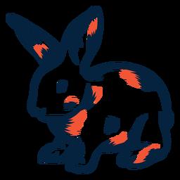Duotono de vista lateral de conejo