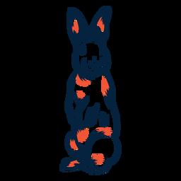 Conejo de pie duotono