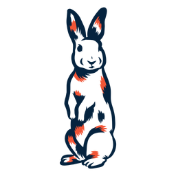 Kaninchen stehendes Duoton