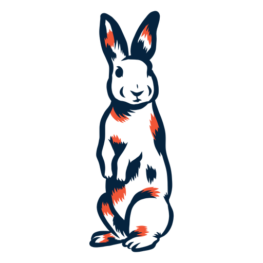 Conejo de pie duotono Transparent PNG