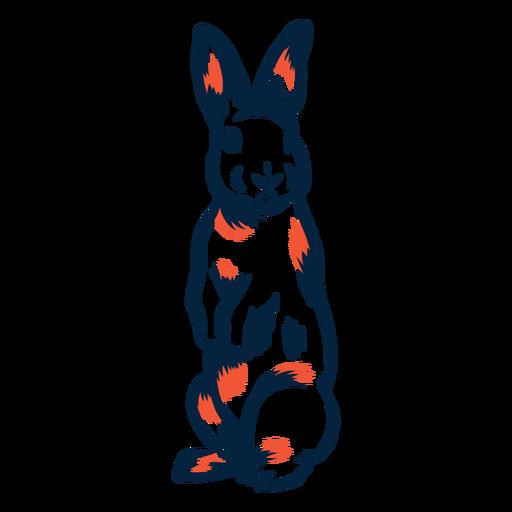 Rabbit standing duotone Transparent PNG