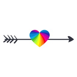 Rainbow arrow heart lgbt sticker