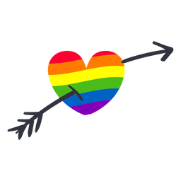 Rainbow heart arrow lgbt sticker