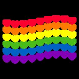 Etiqueta do lgbt da bandeira do coração do arco-íris