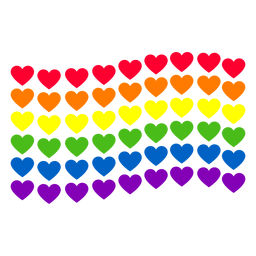 Rainbow heart flag lgbt sticker