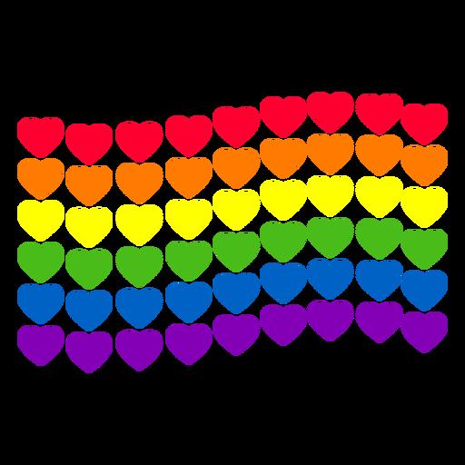 Rainbow heart flag lgbt sticker Transparent PNG