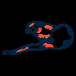 River otter duotone