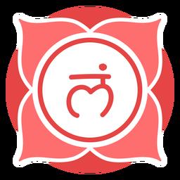 Símbolo do círculo chakra da raiz