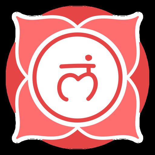 Símbolo del círculo del chakra raíz