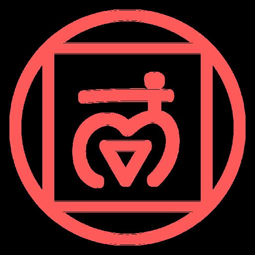 Icono de línea de chakra raíz