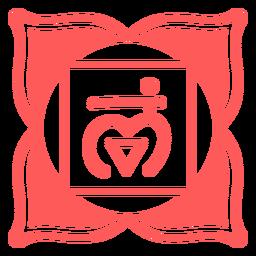 Símbolo de chakra de la raíz