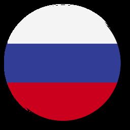 Círculo de icono de idioma de bandera de Rusia