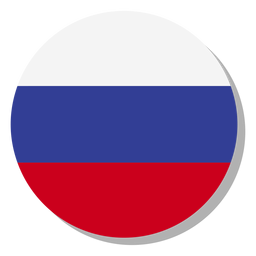 Russia flag language icon circle