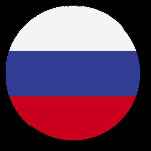 Círculo de ícone de língua de bandeira de Rússia Transparent PNG